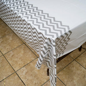 Gray Chevron Tablecover