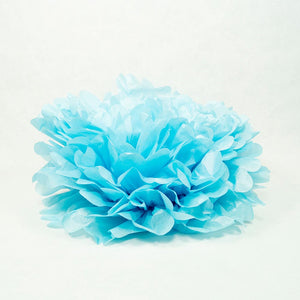 "Baby Blue 16"" Hanging Puff Ball"