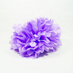 "Purple 16"" Hanging Puff Ball"