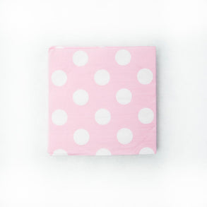 Pastel Pink Polka Dot Lunch Napkins