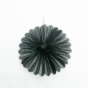 "Black 6"" Paper Fan Decorations"