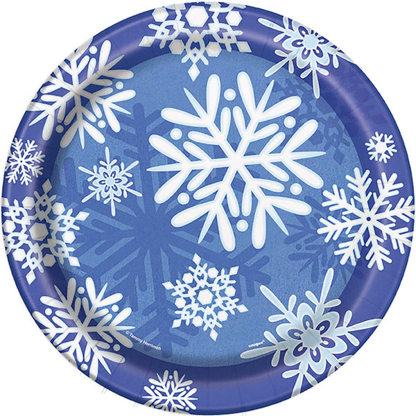 "Winter Snowflake 9"" Plates"