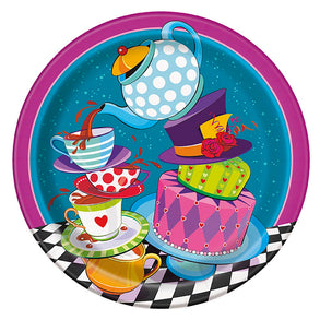 "Mad Hatter Tea Party 9"" Plates"