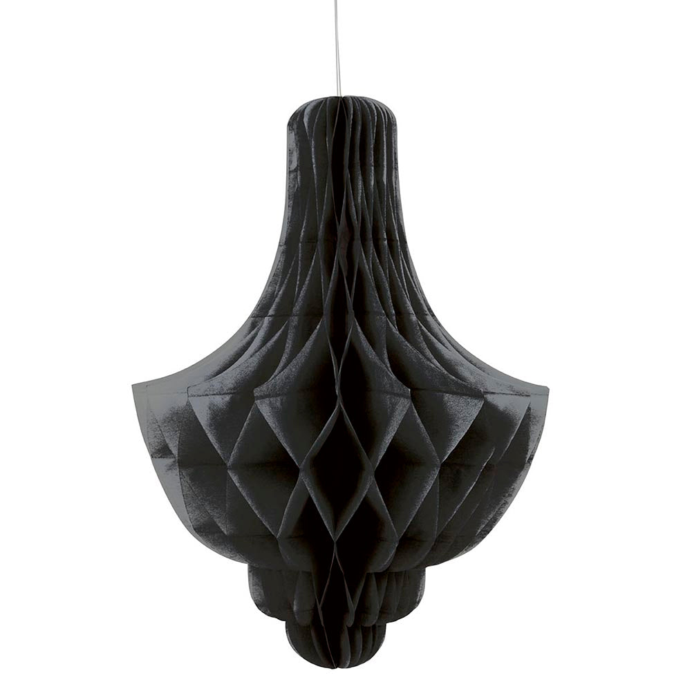 Black Chandelier Tissue Hanging Decoration