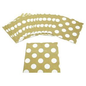 Gold Polka Dot Lunch Napkins