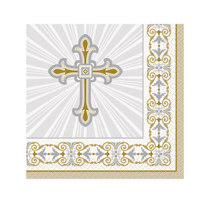 Radiant Cross Beverage Napkins