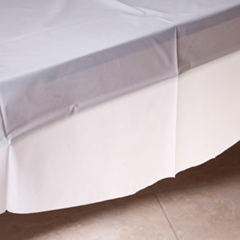 White Round Tablecover