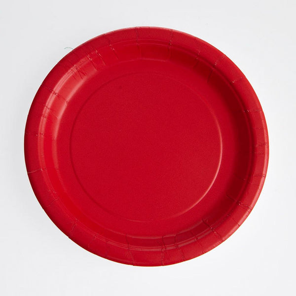 "Red 7"" Plates"