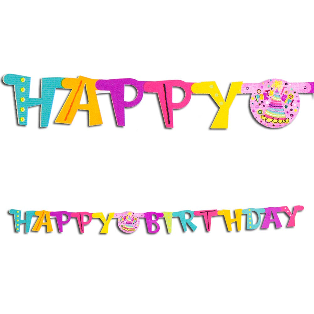 "Party Girl ""Happy Birthday"" Jointed Banner"