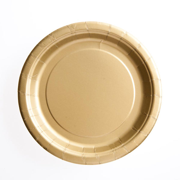 "Gold 7"" Plates"