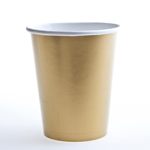 Gold 12 oz. Cups