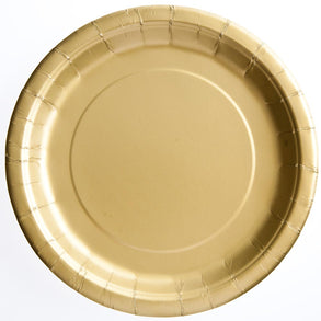 "Gold 9"" Plates"