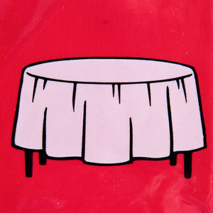 Red Round Tablecover