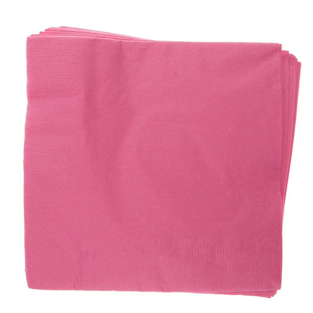 Hot Pink Lunch Napkins
