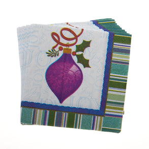 Holiday Ornaments Beverage Napkins