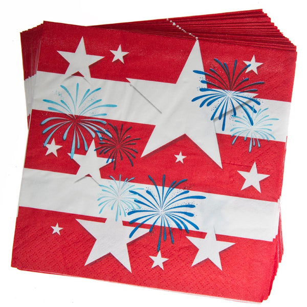 Patriotic Fireworks Lunch Napkins  sc 1 st  Century Novelty & 4th of July Tableware u2013 Century Novelty