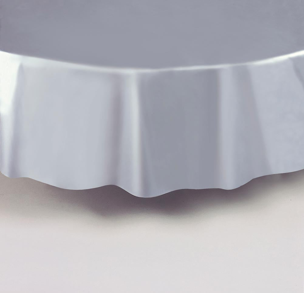 Silver Round Tablecover