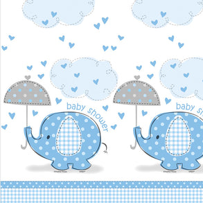 Blue Elephant Baby Shower Tablecover