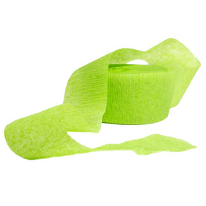 Lime Green Crepe Streamer