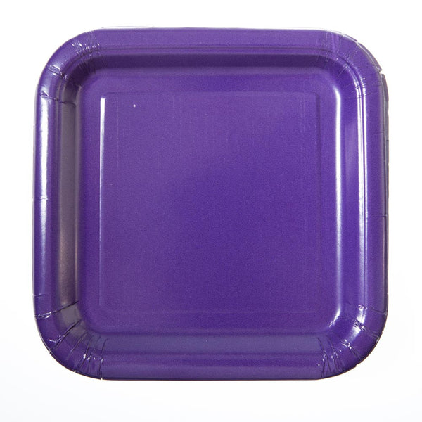 "Purple 7"" Square Plates"