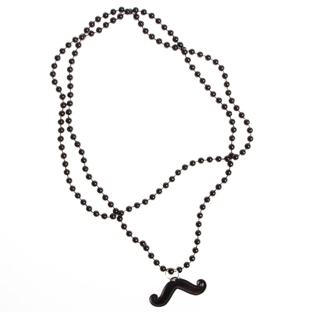 Mustache Bead Necklace