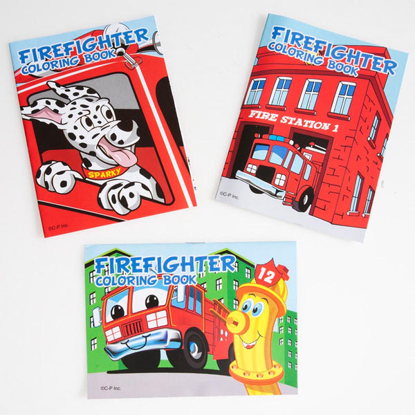 Fire Fighter Coloring Books (12 books)