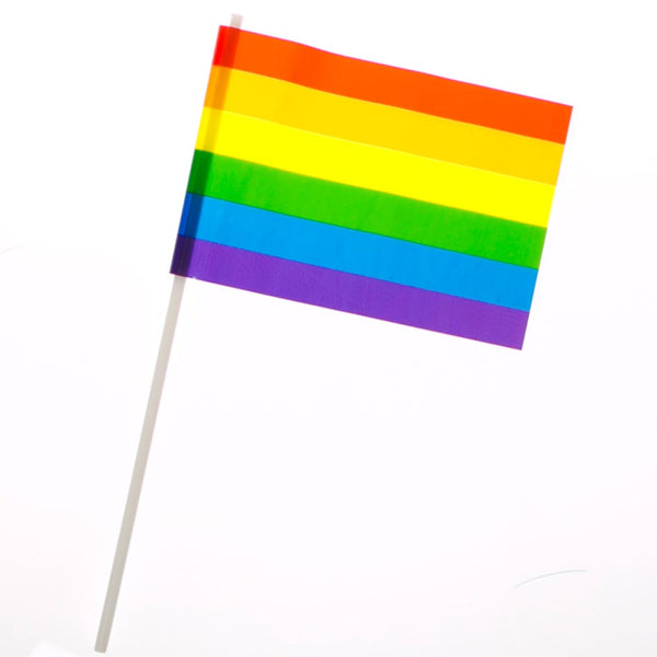 "4"" x 6"" Plastic Rainbow Flags"