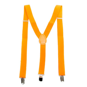 Neon Orange Suspenders
