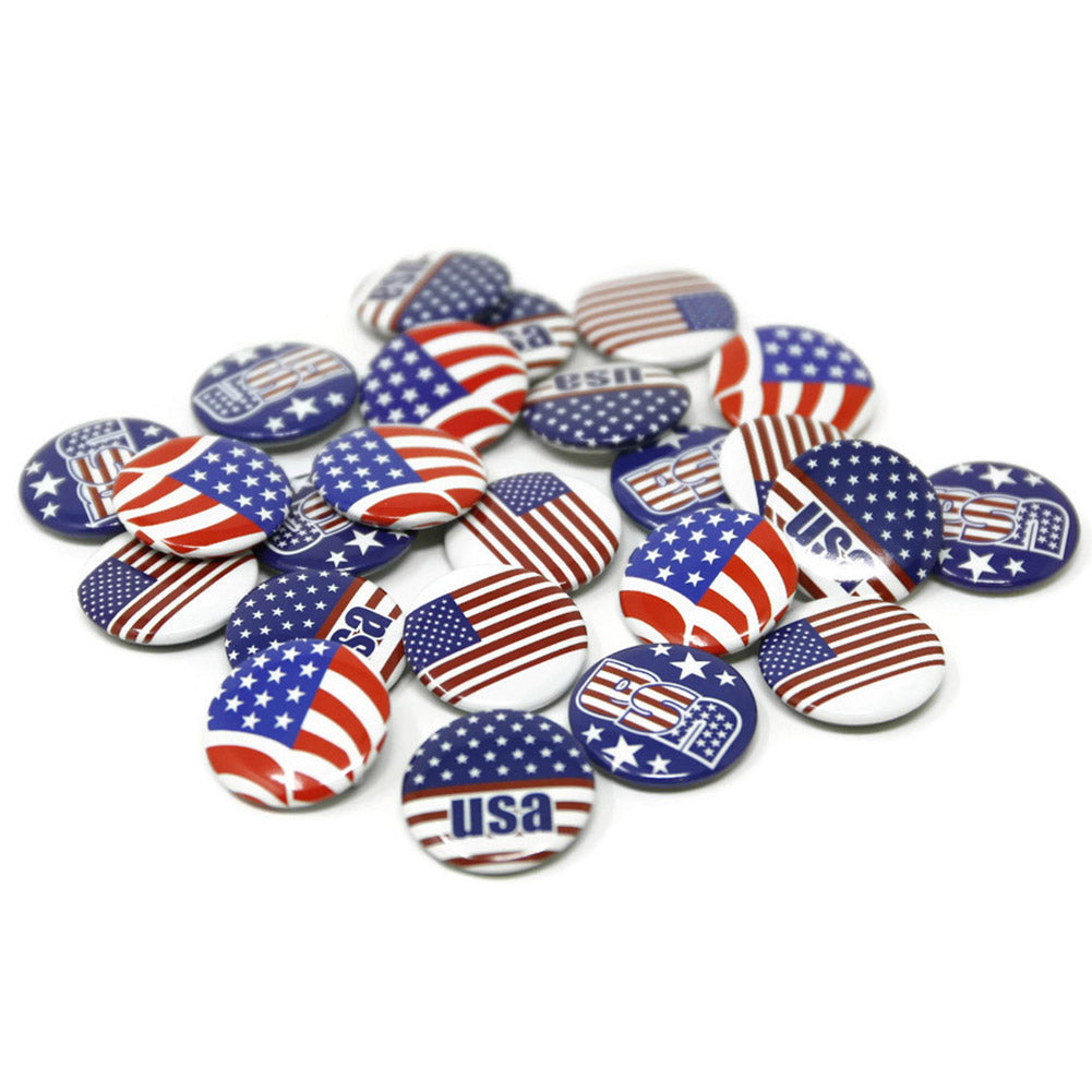 Mini American Flag Buttons