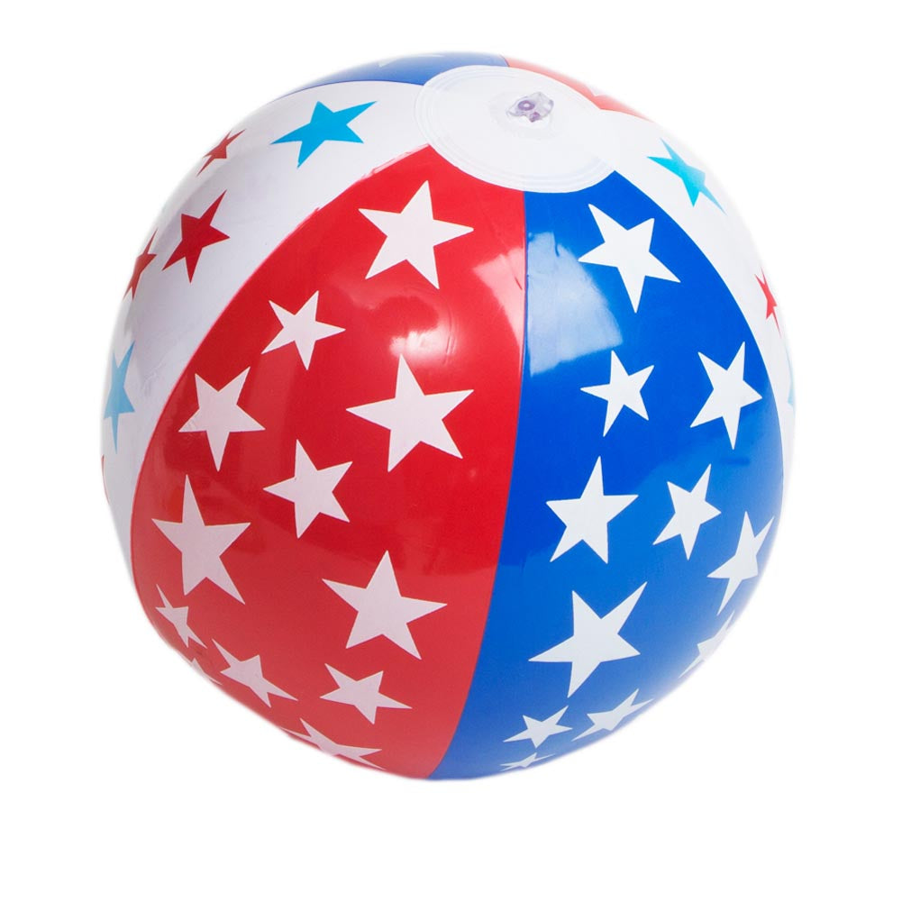 "9"" Patriotic Beach Ball Inflates"