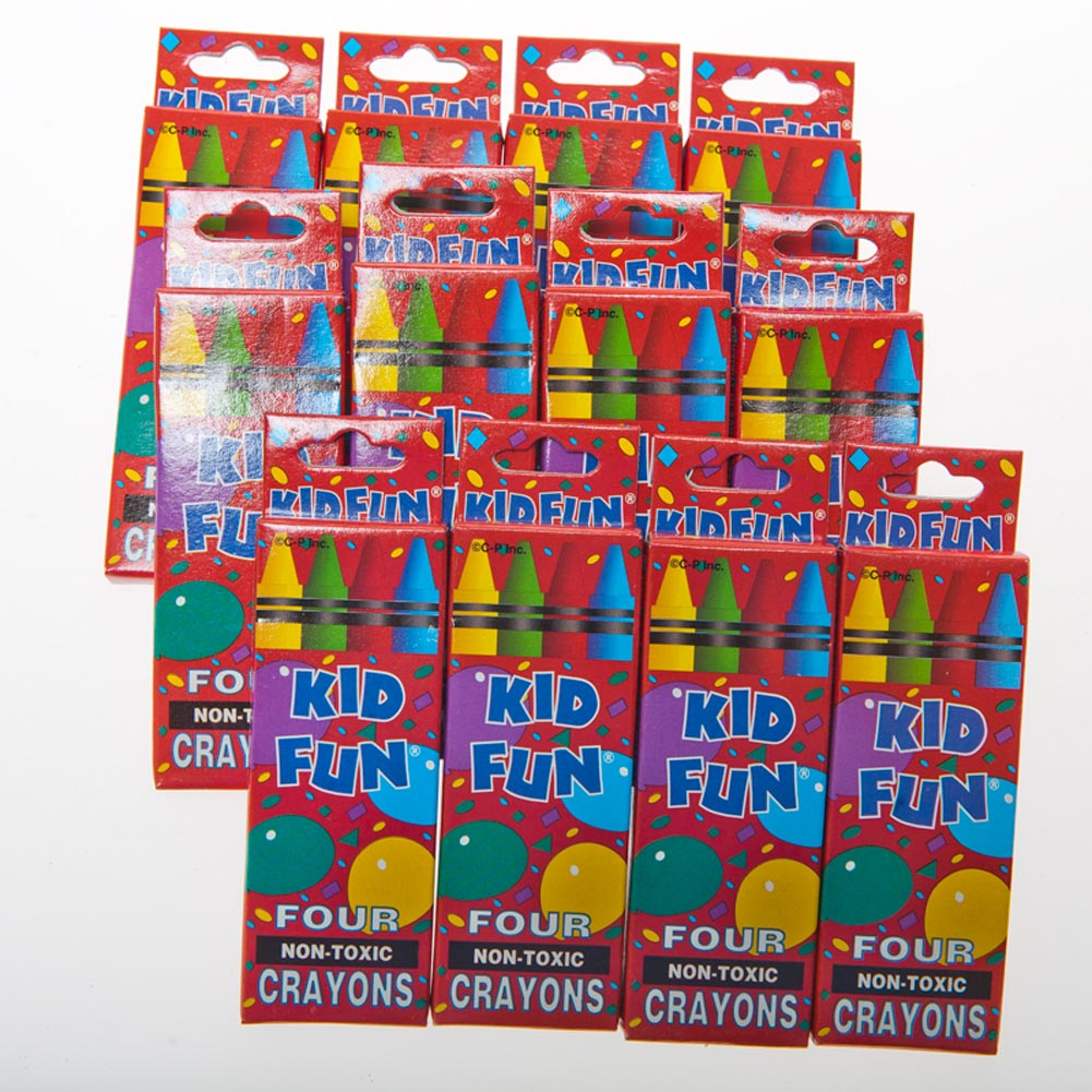 4 Pack Crayon Boxes