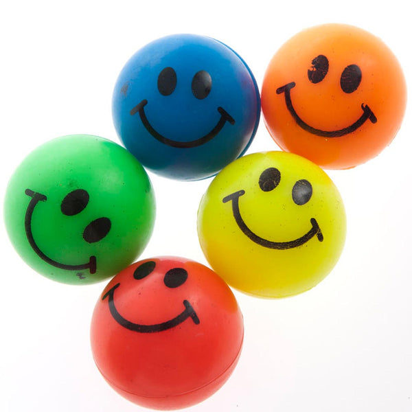 35mm Smile Rubber Bounce Balls
