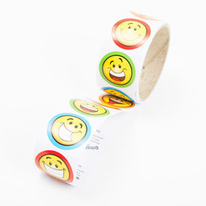 "1 1/2"" Smile Face Stickers"