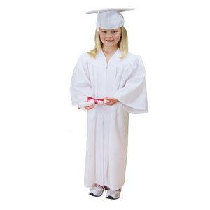 Child's White Graduation Cap & Gown
