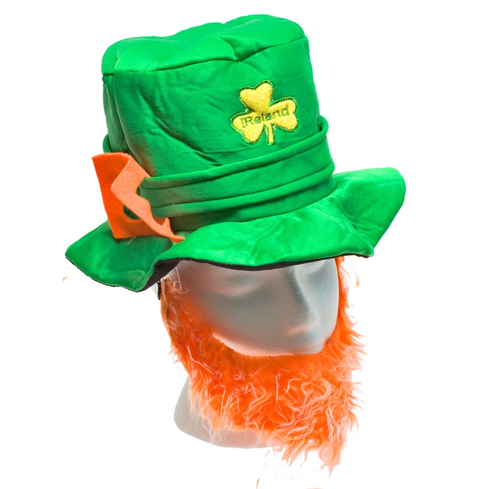 St. Pats Leprechaun Hat & Beard Set