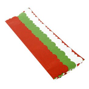 Red/White/Green Diecut Tissue Paper