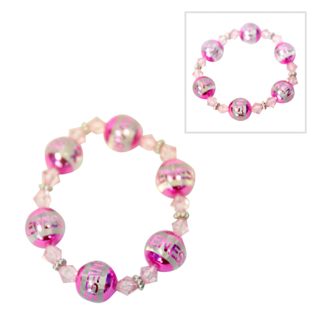 Pink Power Beaded Bracelet