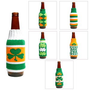 St. Patrick's Day Sweater Beer Bottle Cover
