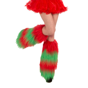 Furry Christmas Leg Warmers