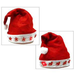 Light Up Red Felt Santa Hat