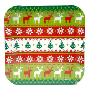 "Ugly Sweater 9"" Plates"
