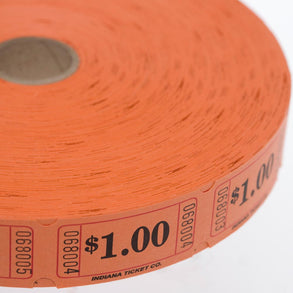 Orange $1.00 Ticket Roll