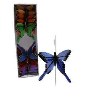 "3"" Feather Bright Butterfly Decorations"