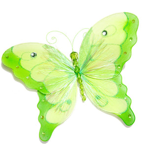 "10"" Nylon Green Butterfly"