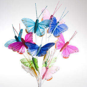 "3"" Feather Bright Sparkle Butterfly Decorations"
