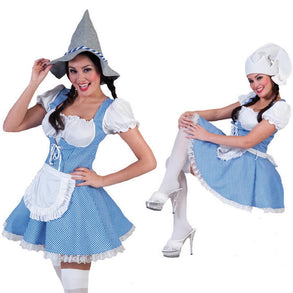 Ladies Blue & White Oktoberfest Costume (Medium)
