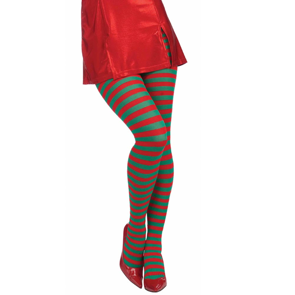 Striped Christmas Tights