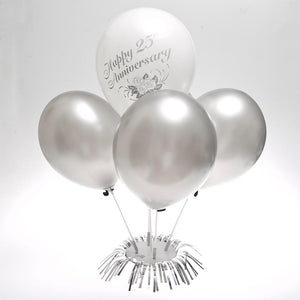 Silver Balloon Centerpiece