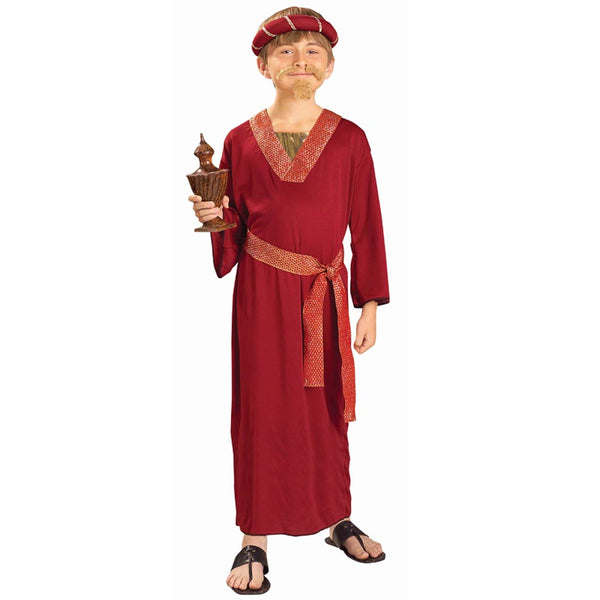 Children's Burgundy Nativity Wiseman Costume