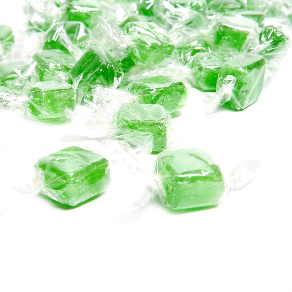 Green Apple Fruit Cubes Hard Candies -3 lbs